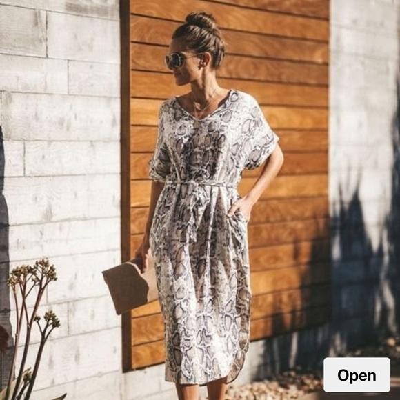 Vici Snake Skin Dress